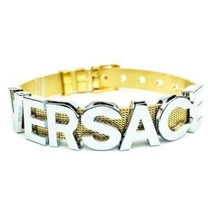 BRACELET WITH WORD VERSACE No.1 - SILVER